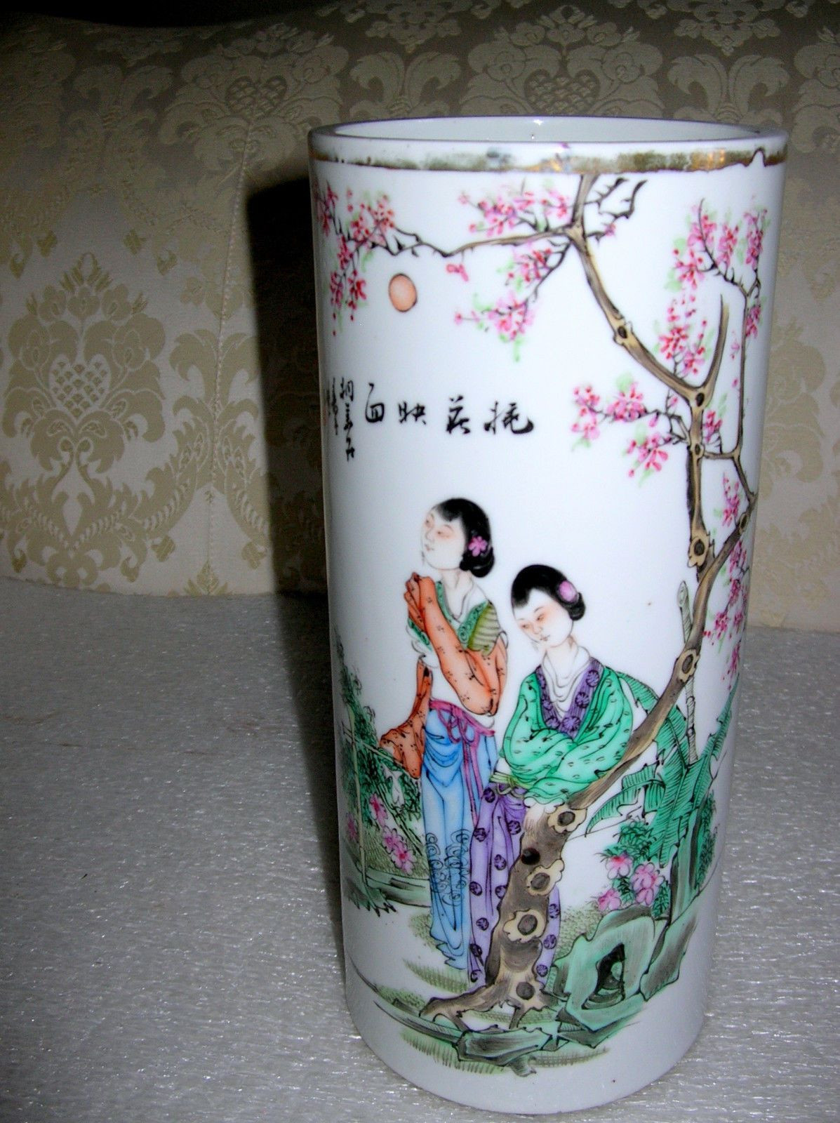 chinese vase stand of rudesheim rh drosselgasse qualitat 5 l german beer stein within 19th century antique chinese famille rose hat stand vase republic period