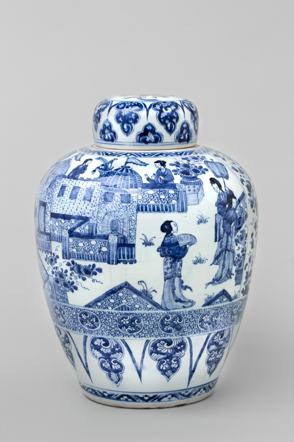 chinese vase with lid of a chinese blue and white kangxi ladies jar and cover kangxi 1662 with regard to a chinese blue and white kangxi ladies jar and cover