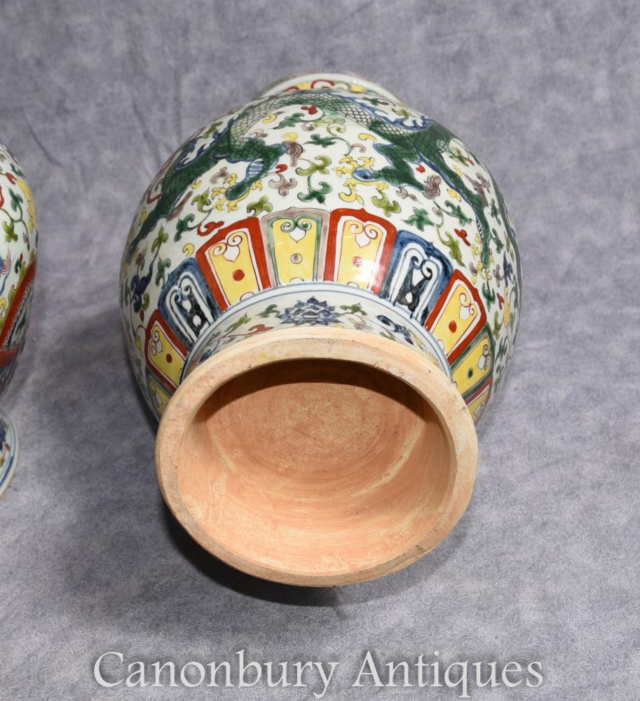 chinese vases for sale uk of pair chinese qianlong porcelain vases dragon urns ceramic china ebay pertaining to additional images