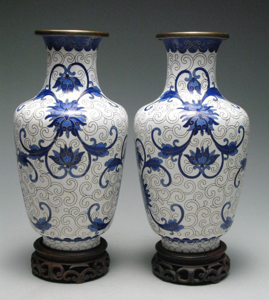 chinese wooden stands for vases of pair of beautiful vintage chinese white cloisonne vases w stands for pair of beautiful vintage chinese white cloisonne vases w stands chinese cloisonne