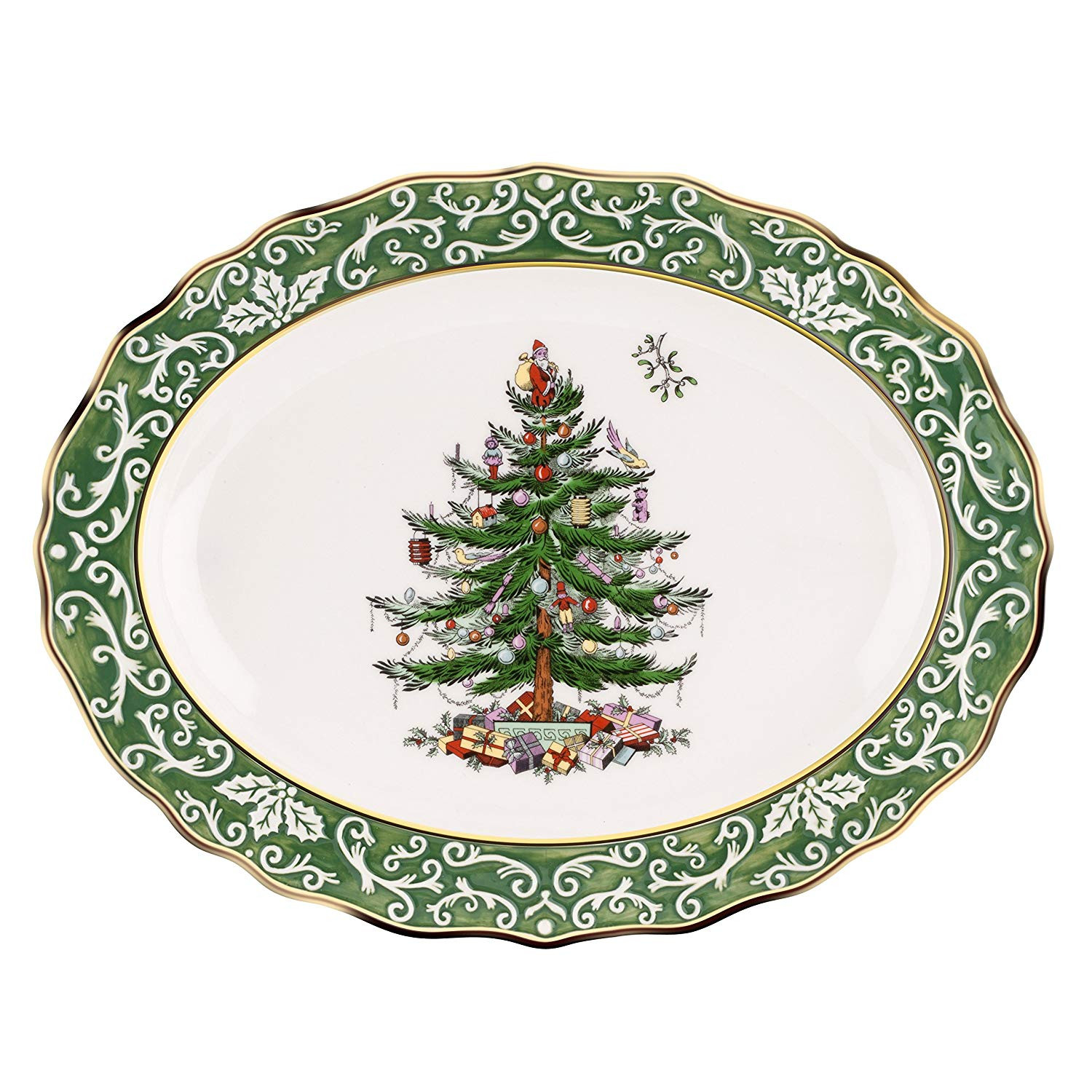 christmas tree shop vases of amazon com spode christmas tree embossed platter large gold pertaining to amazon com spode christmas tree embossed platter large gold kitchen dining