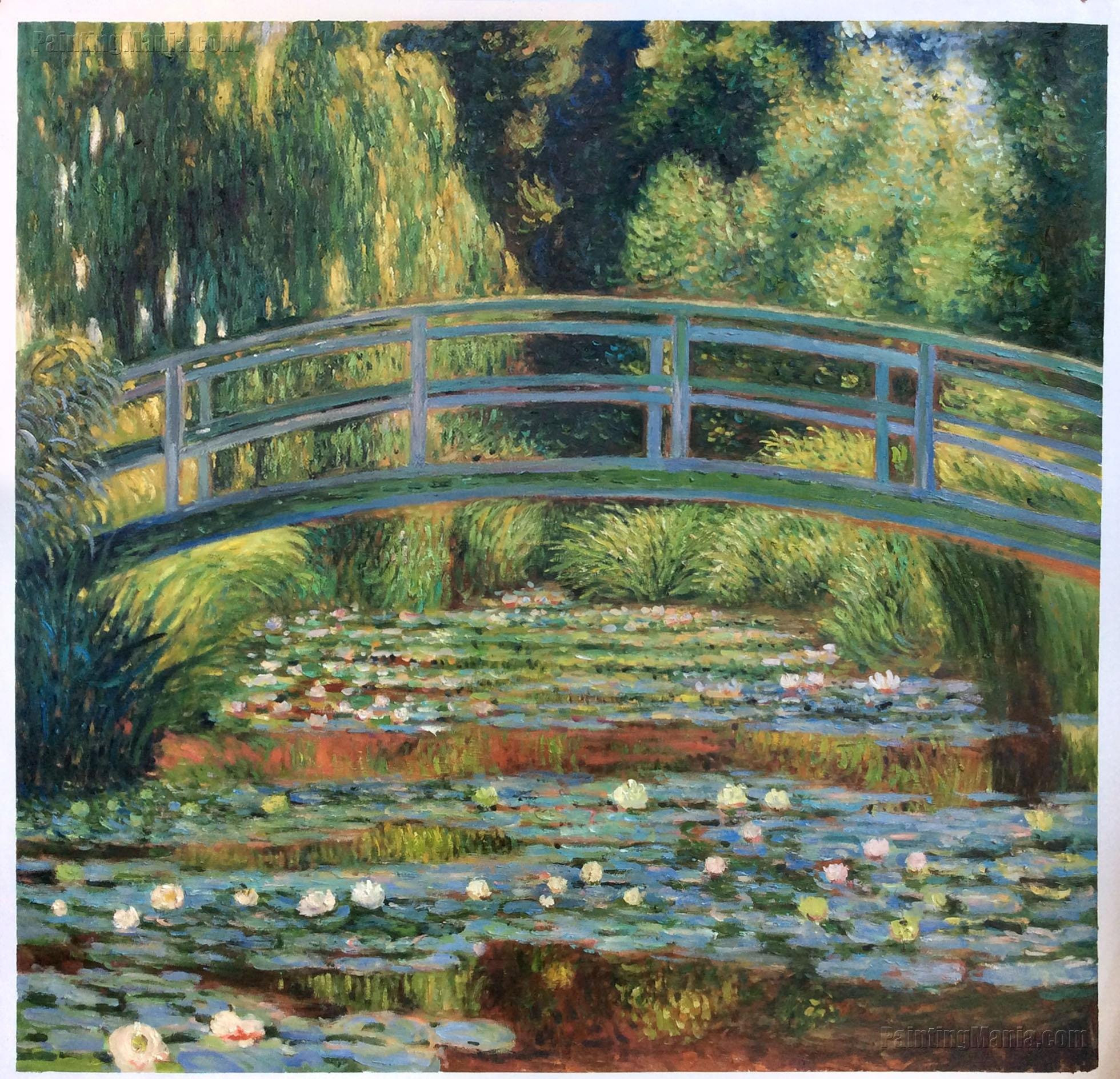 "claude monet vase of flowers of the japanese footbridge and the water lily pool giverny etsy with regard to dŸ""Žzoom"