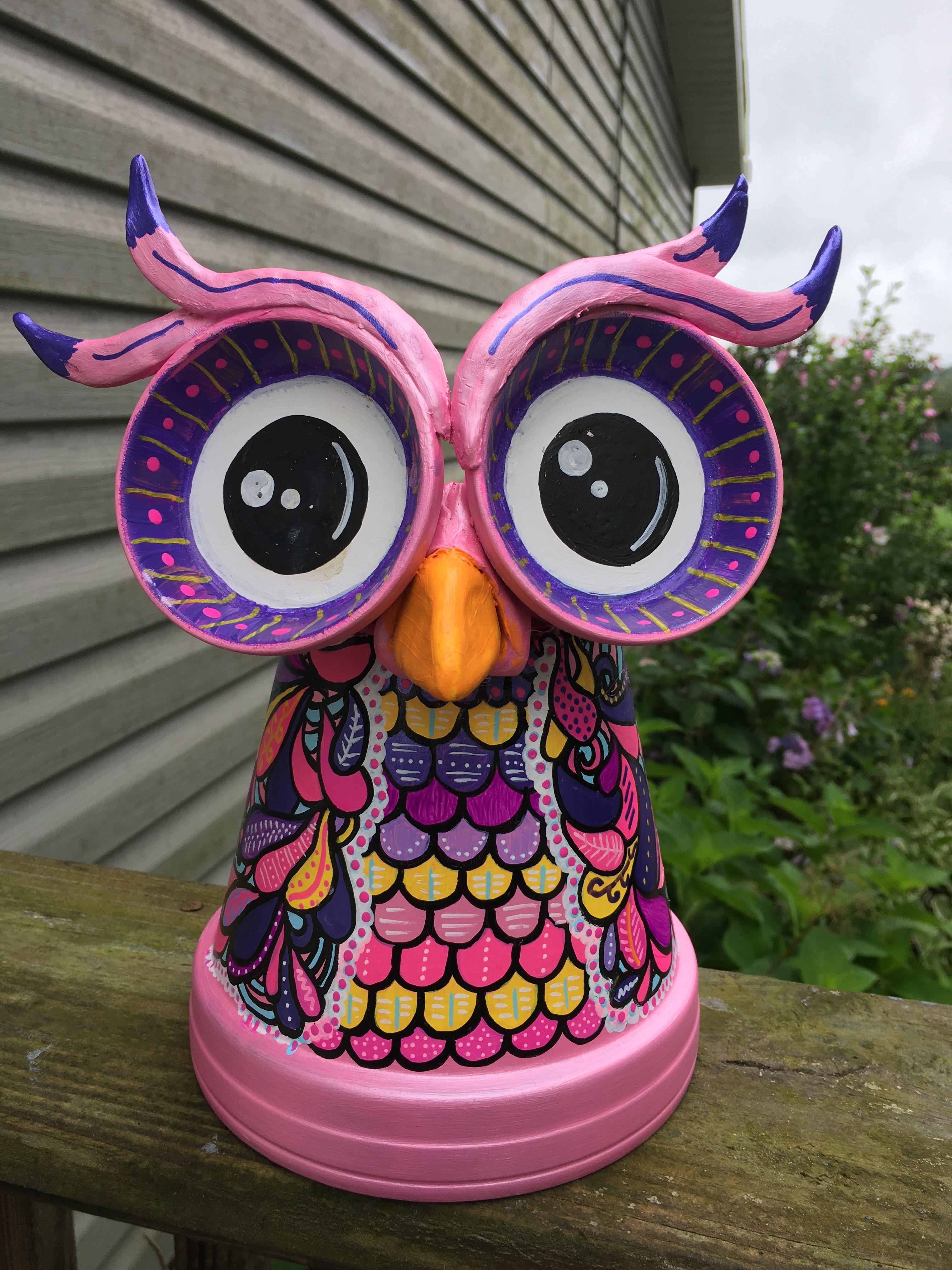 clay flower vase of clay pot terra cotta owl clay pots pinterest clay pots clay for clay pot terra cotta owl