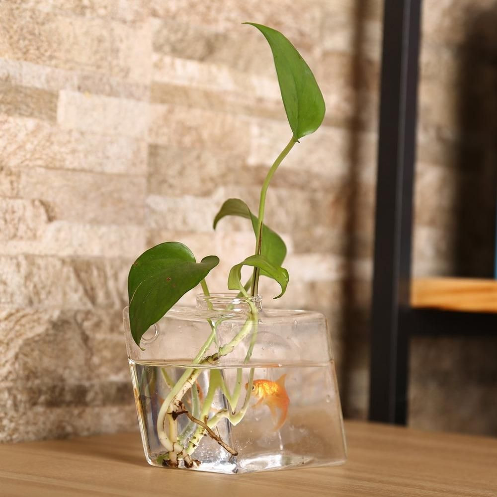 Clay Vases wholesale Of Diamond Shaped Transparent Wall Hanging Vase Creative Plant Decor Intended for Diamond Shaped Transparent Wall Hanging Vase