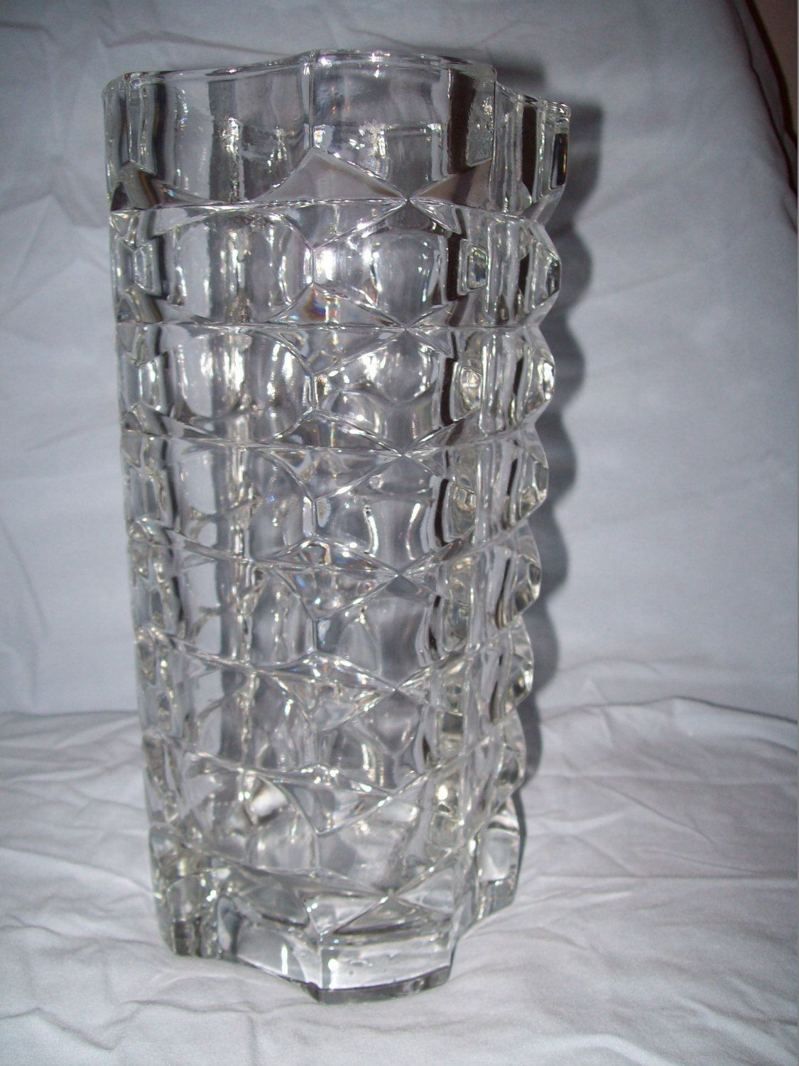 clear acrylic cylinder vase of large clear glass vase images 4 5 od x 4 25 id x 23 7 8 long for large clear glass vase pics clear glass very old large vase leaded glass very heavy 66