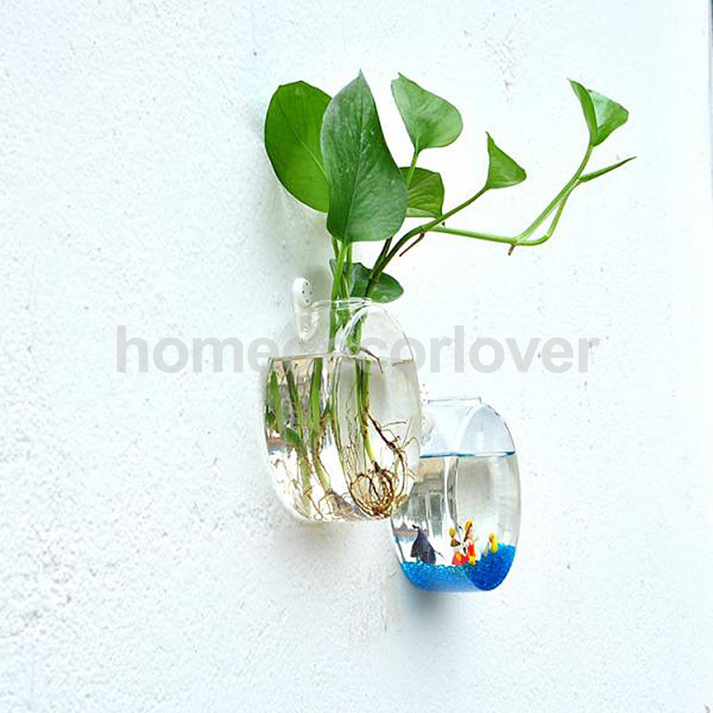 Clear Acrylic Vase Of Wall Hanging Plant Flower Hydroponic Flat Ball Glass Vase Terrarium Pertaining to Aeproduct Getsubject