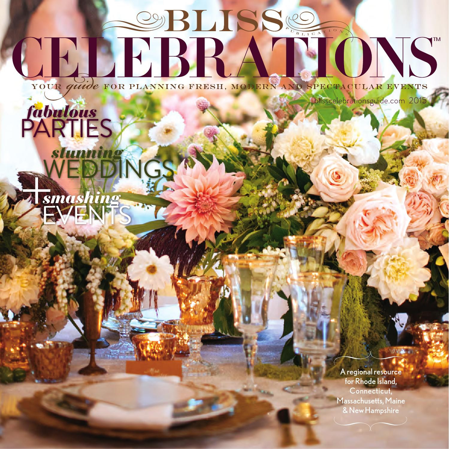 clear crushed glass vase filler of 2015 bliss celebrations guide by bliss publications issuu throughout page 1