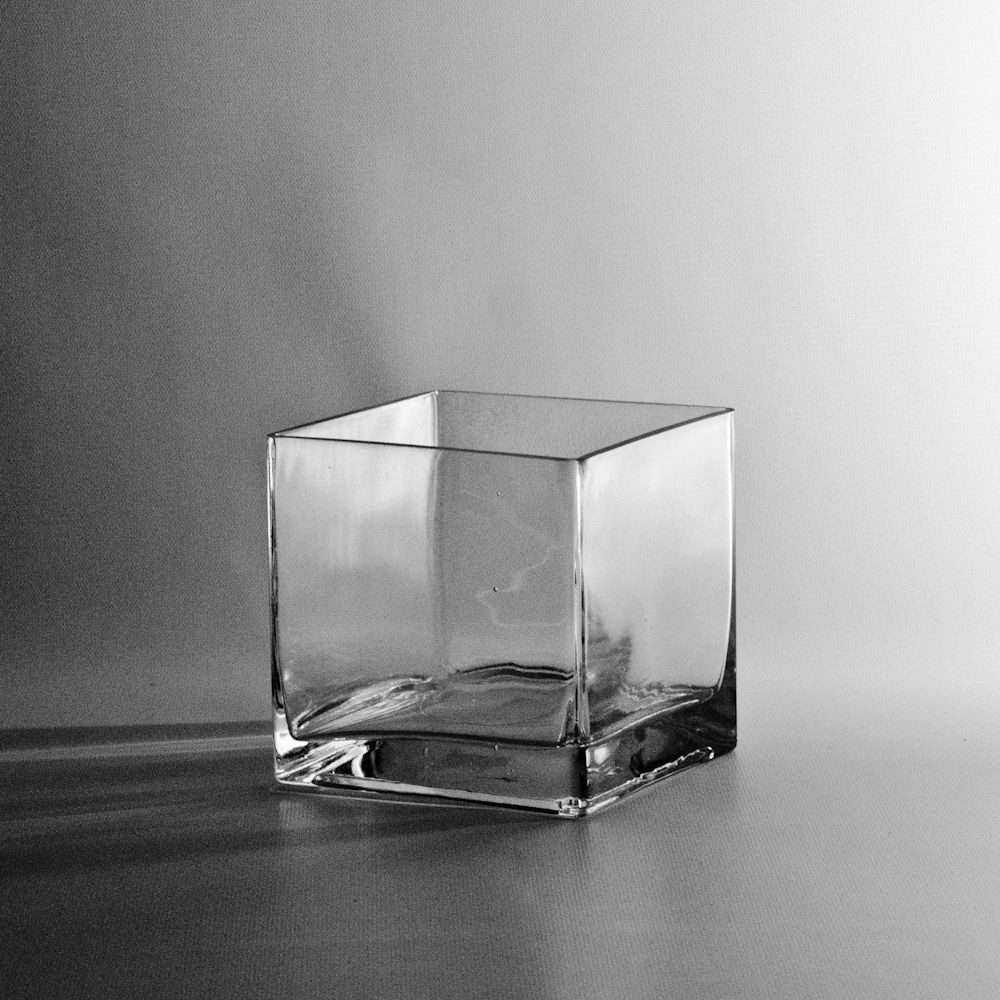 clear cube vase of 8 5 vases wrapped in rose gold and dark purple ribbon get throughout square glass cube vase discount miniature vases wholesale flowers and supplies ea