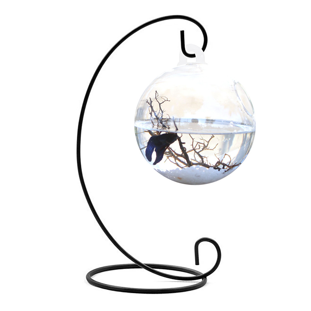 clear fish bowl vase of clear round shape hanging glass aquarium fish bowl fish tank flower throughout clear round shape hanging glass aquarium fish bowl fish tank flower plant vase home decoration with 28cm height rack holder in aquariums tanks from home