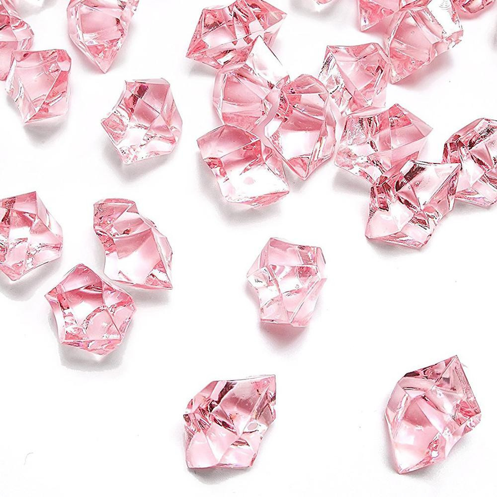 """clear gem vase fillers of acrylic gems ice crystal rocks for vase fillers party table scatter in vase fillers wedding centerpieces decorations a"""" however its close to reality appearance but no cooling properties whatsoever"""