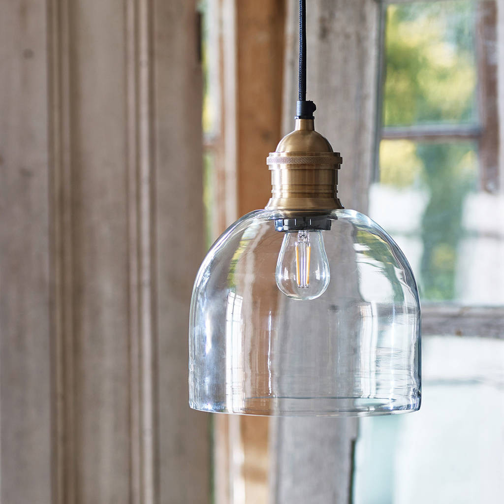 clear glass bulb vase of flori glass pendant brass by rowen wren notonthehighstreet com within flori glass pendant brass