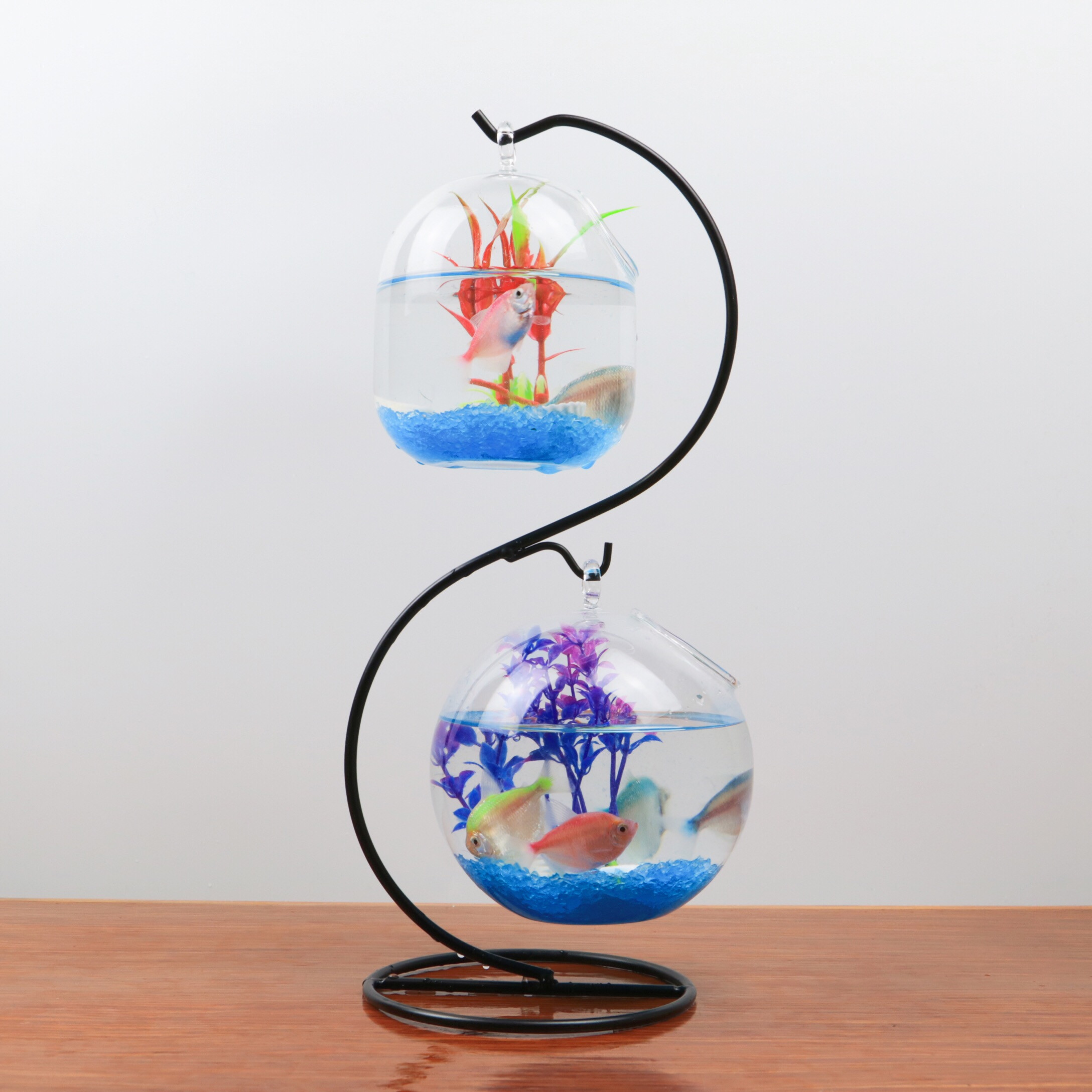 clear glass fish shaped vase of usd 6 39 creative home decoration hanging desk bucket noodle fish intended for iron frame big winter melon 12 cm fish tank double hook iron frame size winter melon fish tank s type iron frame 12 small winter melon fish tank
