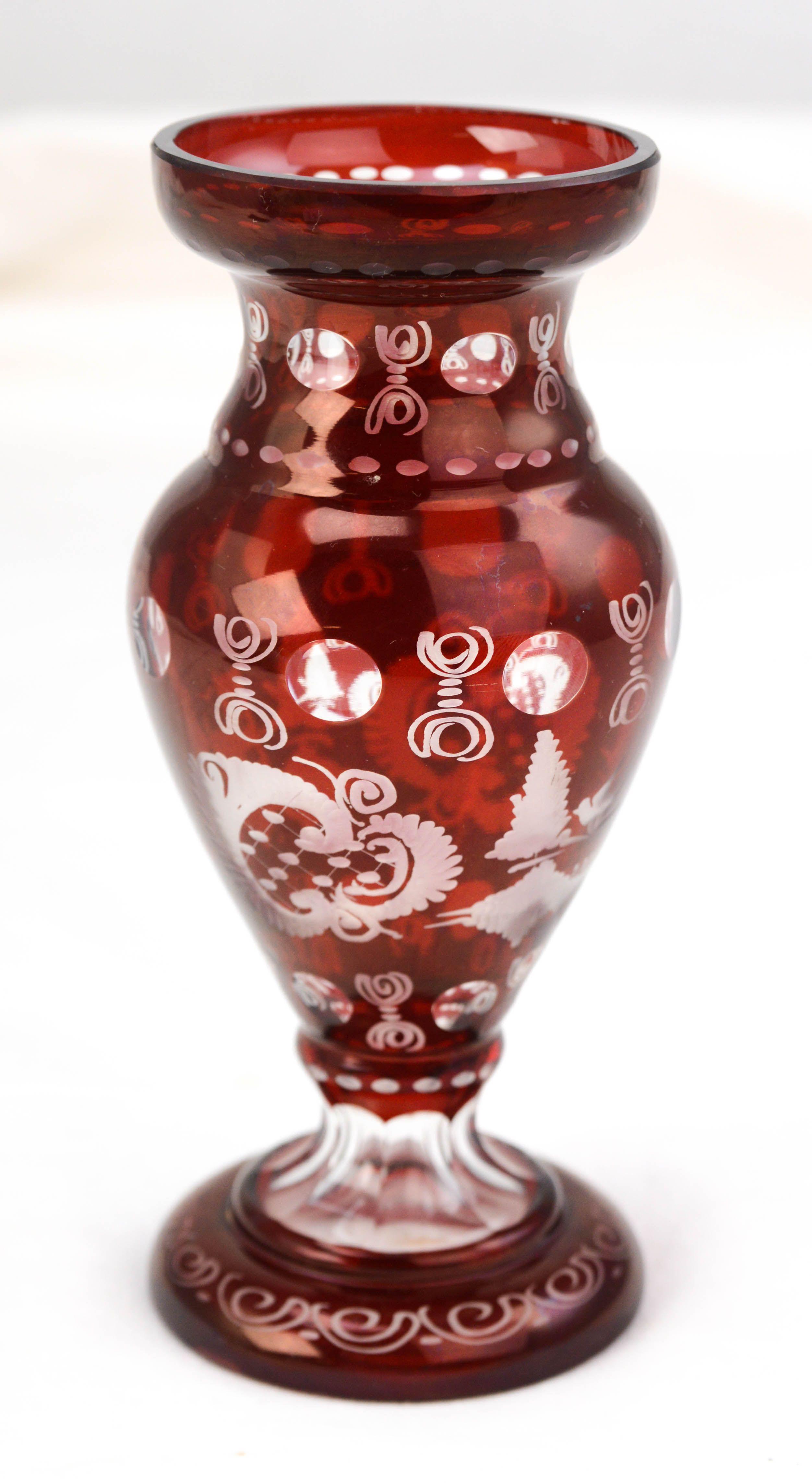 clear glass pilsner vase of glass cylinder vases cheap fresh vtg bohemian egermann ruby red cut throughout glass cylinder vases cheap fresh vtg bohemian egermann ruby red cut to clear etched