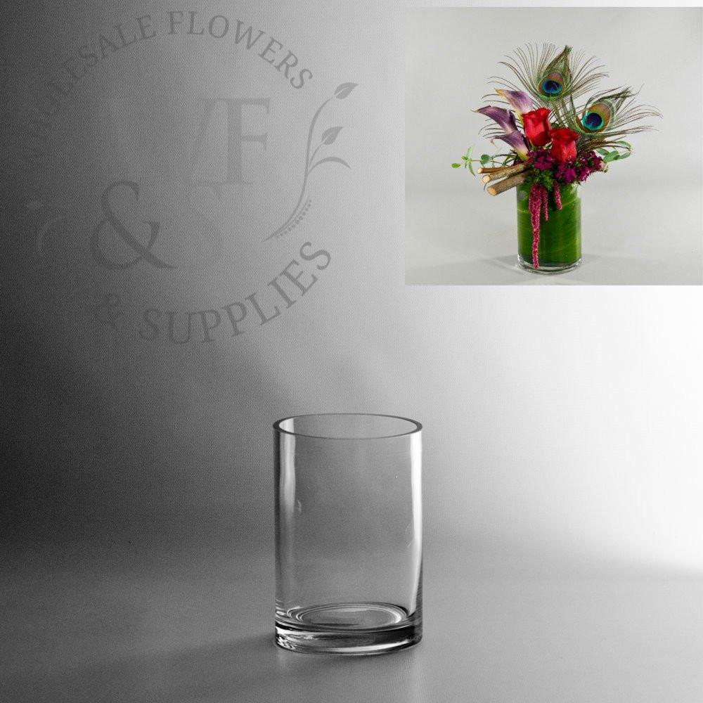 clear glass pilsner vase of glass cylinder vases wholesale flowers supplies regarding 6 x 4 glass cylinder vase