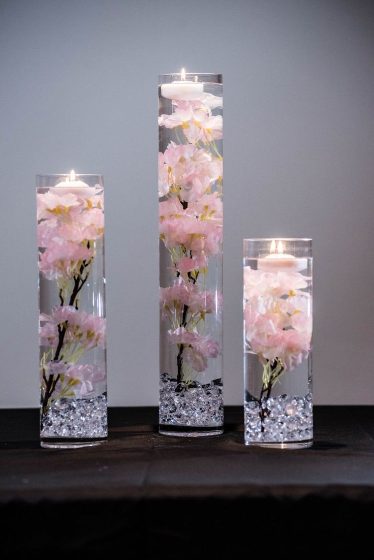 clear mini discs vase filler of 6070 best luzes e luz as images on pinterest candle sticks in 85 beautiful cherry blossom wedding themed decoration ideas you will totally love