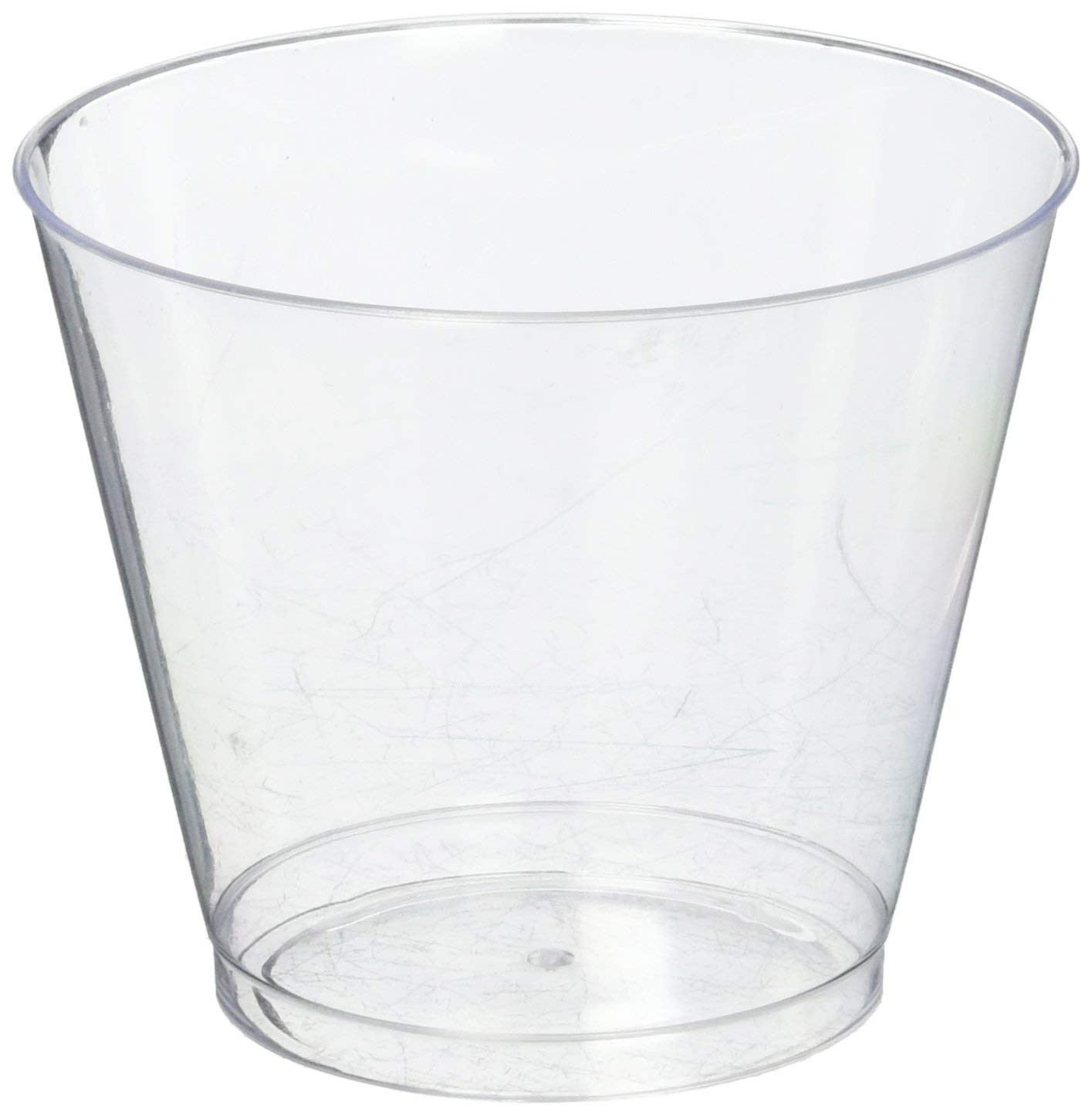 Clear Plastic Cylinder Vases wholesale Of Amazon Com Hard Plastic Tumblers 9 Oz Party Cups Old Fashioned Regarding Amazon Com Hard Plastic Tumblers 9 Oz Party Cups Old Fashioned Glass 100 Count Drinking Glasses Crystal Clear Kitchen Dining