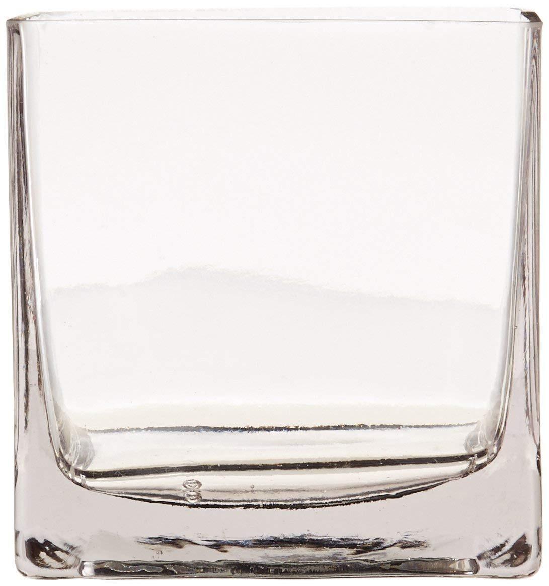 clear plastic vases in bulk of amazon com 12piece 4 square crystal clear glass vase home kitchen inside 61odrrfbtgl sl1164