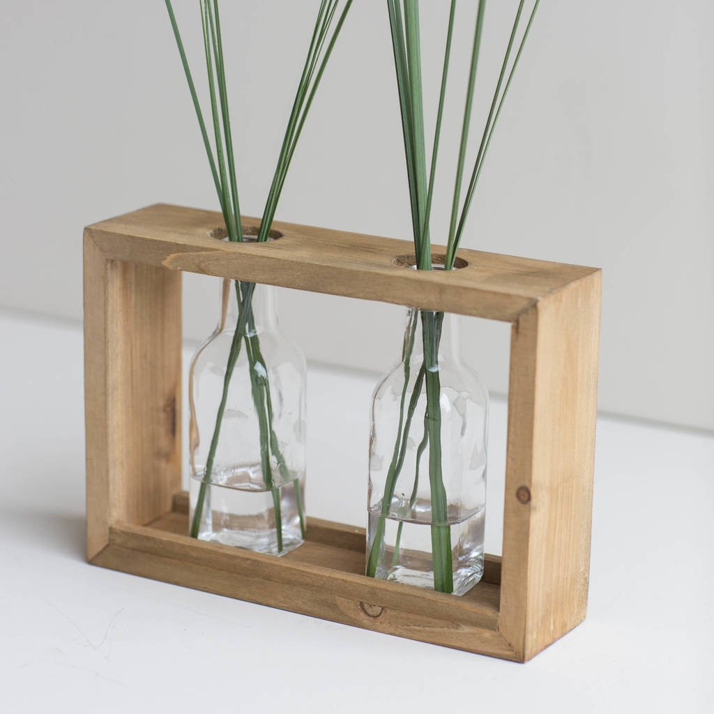 clear rectangle vase of double framed stem vase by marquis dawe notonthehighstreet com pertaining to double framed stem vase
