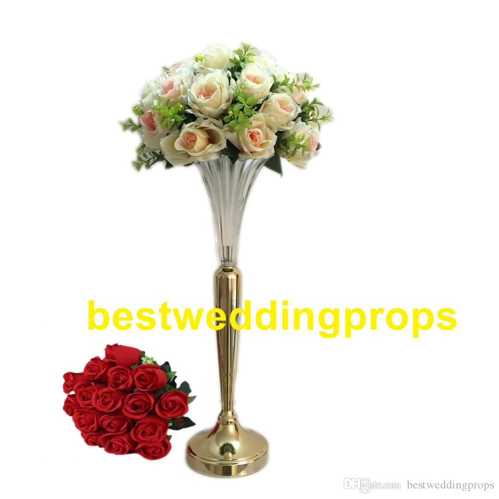 clear trumpet vases wholesale of clear trumpet glass vase vase wedding centerpiecevase wedding within to make then taller according the order you place here is picture about 37cm and 51 cm t