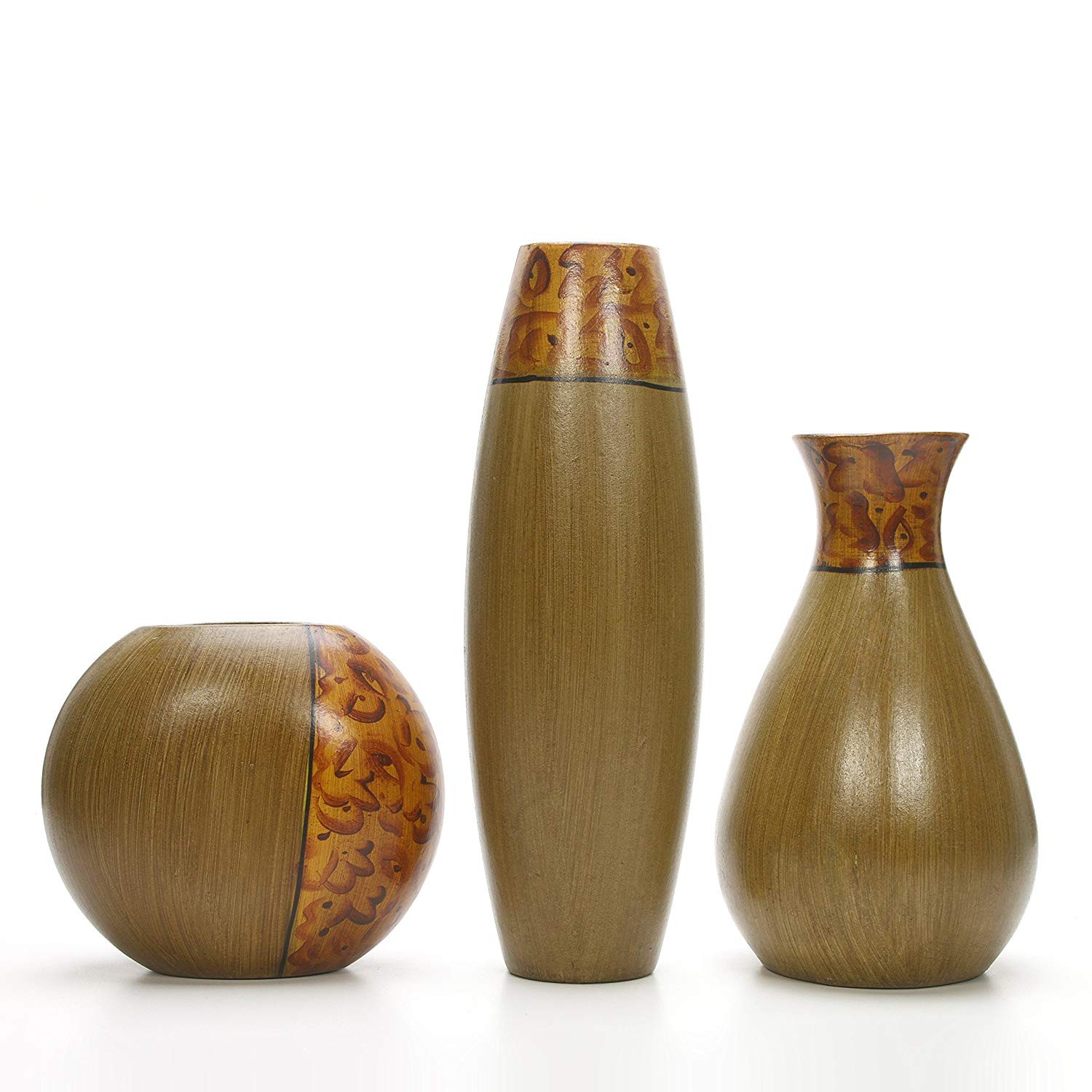 clearance vases in bulk of centerpiece vases amazon com home decor vases pertaining to hosleys set of 3 burlwood vases ideal gift for wedding or special occasion and for