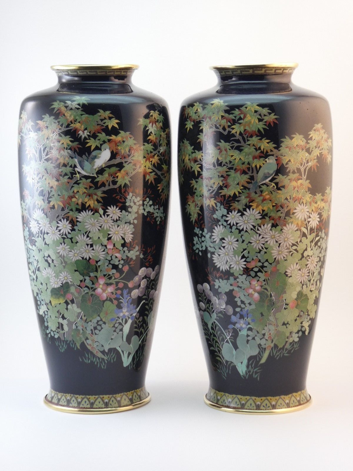 cloisonne vase value of hayashi hachizaemon antique meiji period pair of silver wire intended for hayashi hachizaemon antique meiji period pair of silver wire japanese cloisonna vases