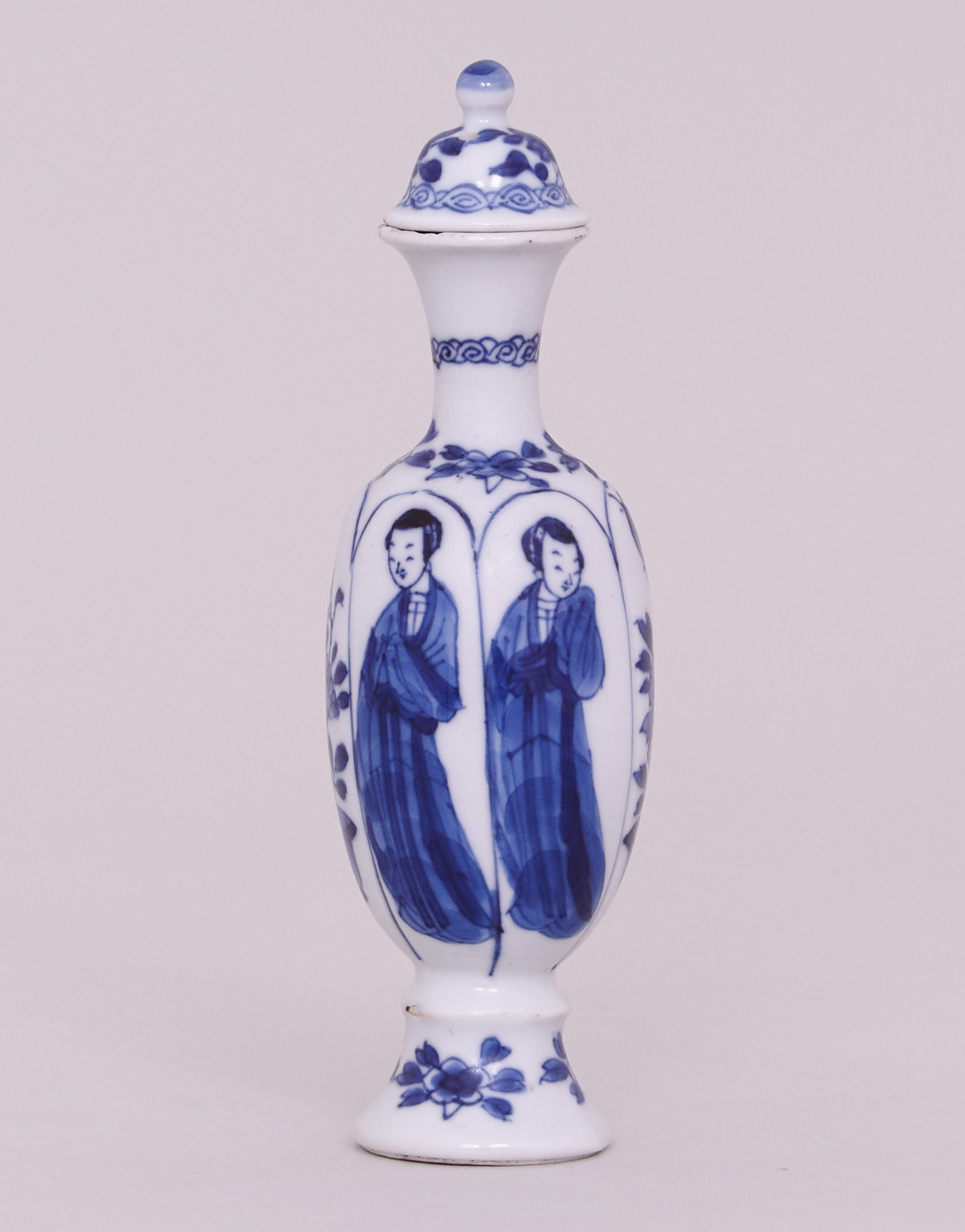 cobalt blue glass flower vases of a chinese kangxi blue and white miniature vase and cover kangxi within a chinese kangxi blue and white miniature vase and cover