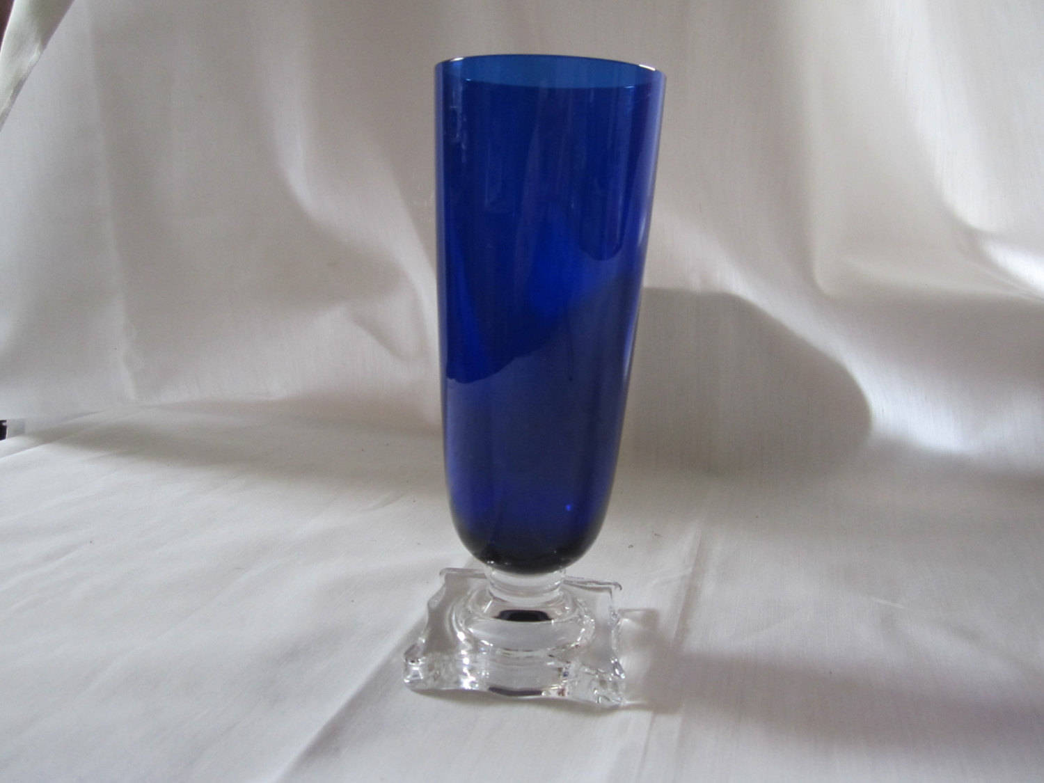 "Cobalt Blue Glass Flower Vases Of Seneca Glass Co Slim Pattern 903 Etsy Pertaining to DŸ""Žzoom"