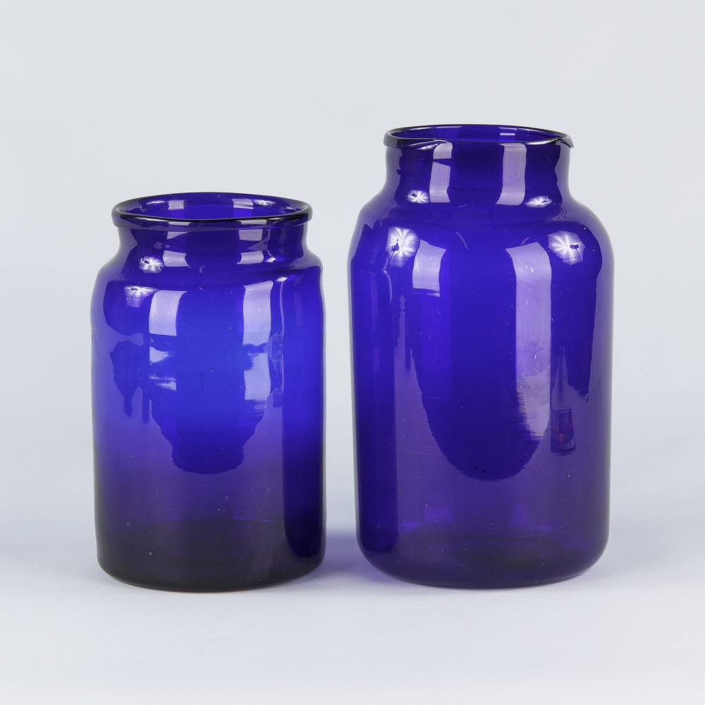 cobalt blue glass vases and bottles of french cobalt blue glass pharmacy jar 1930s ref bb45 french regarding 16 detail images