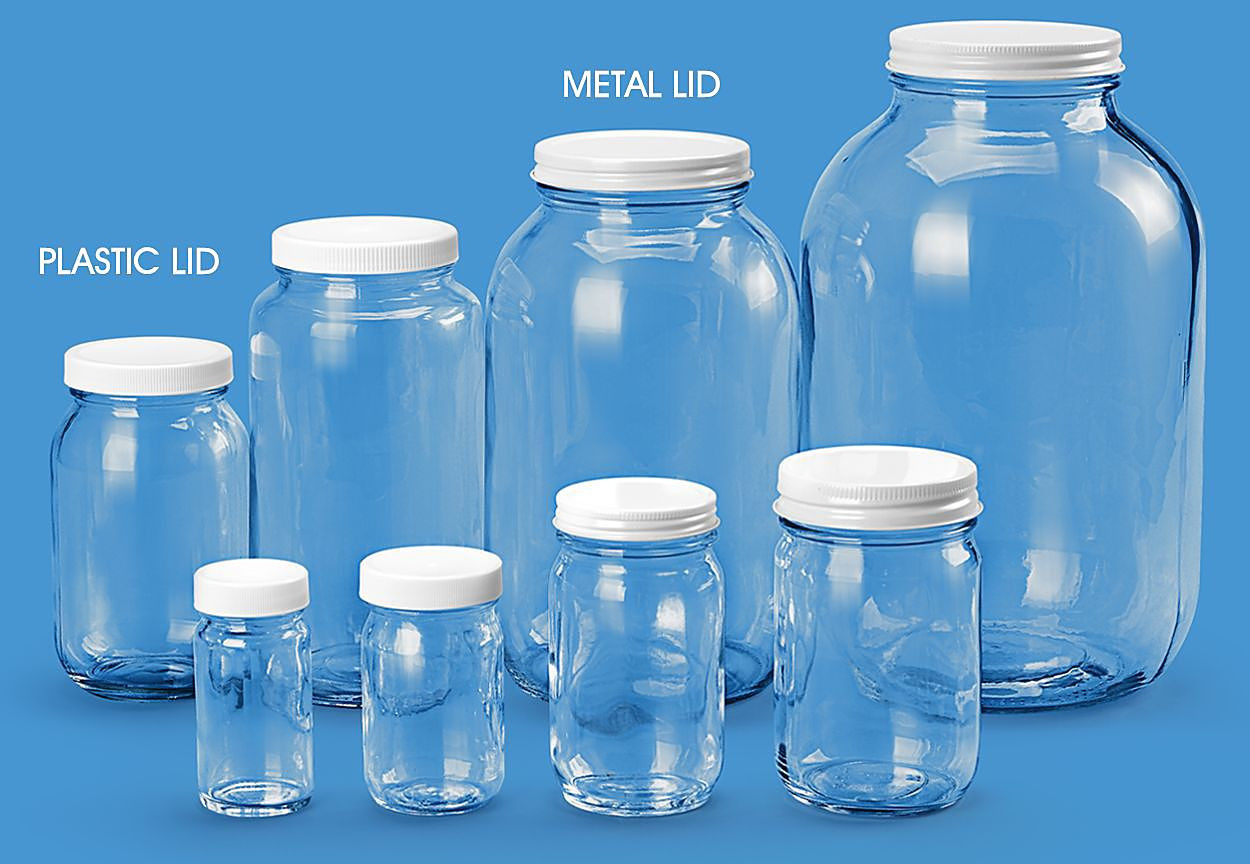cobalt blue glass vases and bottles of glass containers gallon glass jars in stock uline regarding wide mouth glass jars