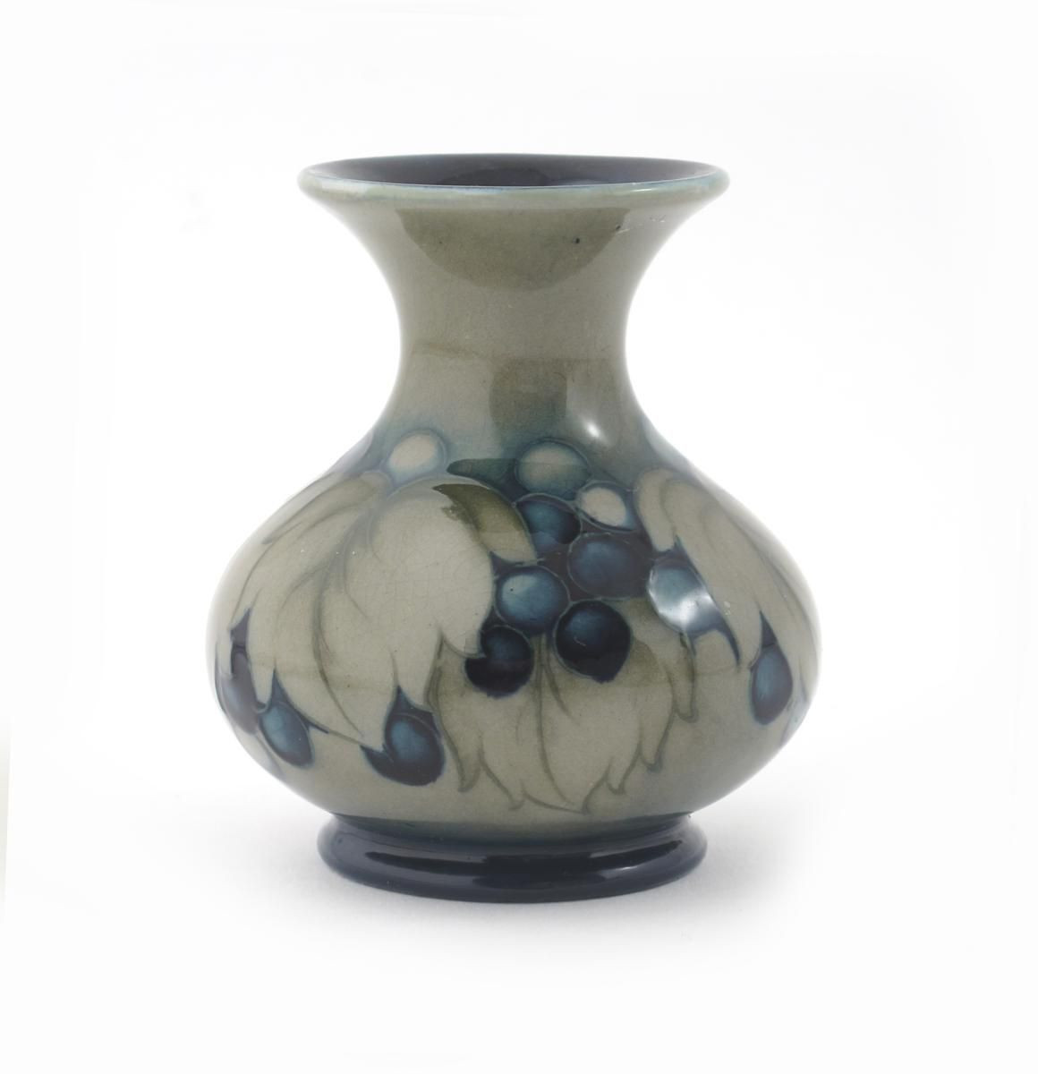 cobalt blue pottery vase of blue pottery vase image italian fine art pottery vase white and blue with blue pottery vase image leaf and berry a moorcroft pottery vase designed by william of blue