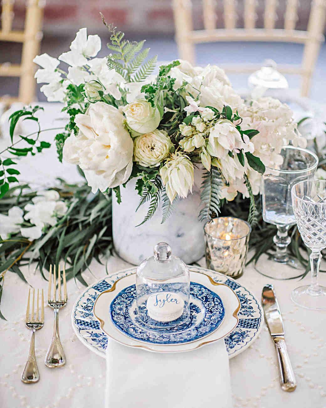 cobalt blue vase centerpieces of 79 white wedding centerpieces martha stewart weddings regarding hannah steve wedding california china macarons