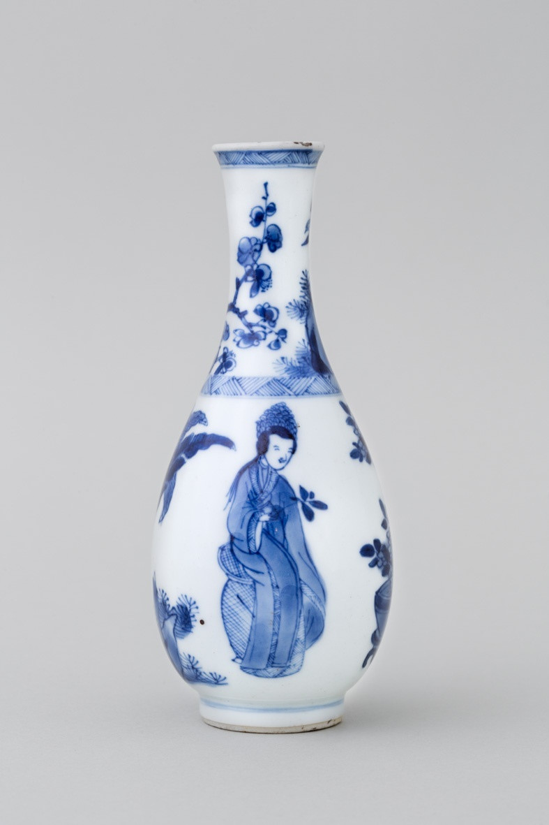cobalt blue vase of a chinese miniature blue and white bottle vase kangxi 1662 1722 in a chinese miniature blue and white bottle vase