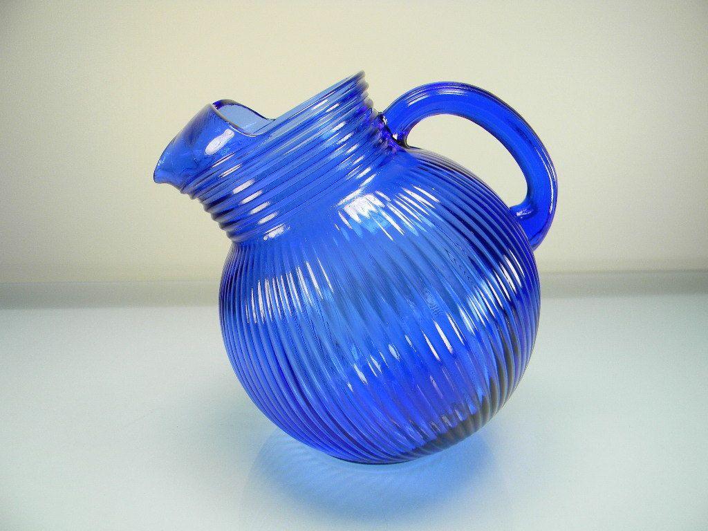cobalt blue vase of vintage hazel atlas cobalt blue ritz blue fine rib tilt pitcher for vintage hazel atlas cobalt blue ritz blue fine rib tilt pitcher