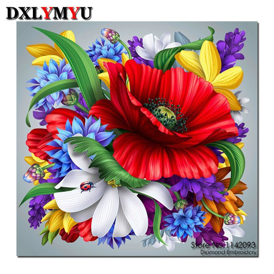 colorful flower vase of 3d diy diamond painting cross stitch needlework square full diamond throughout 3d diy diamond painting cross stitch needlework square full diamond embroidery colorful flower vase painting pattern