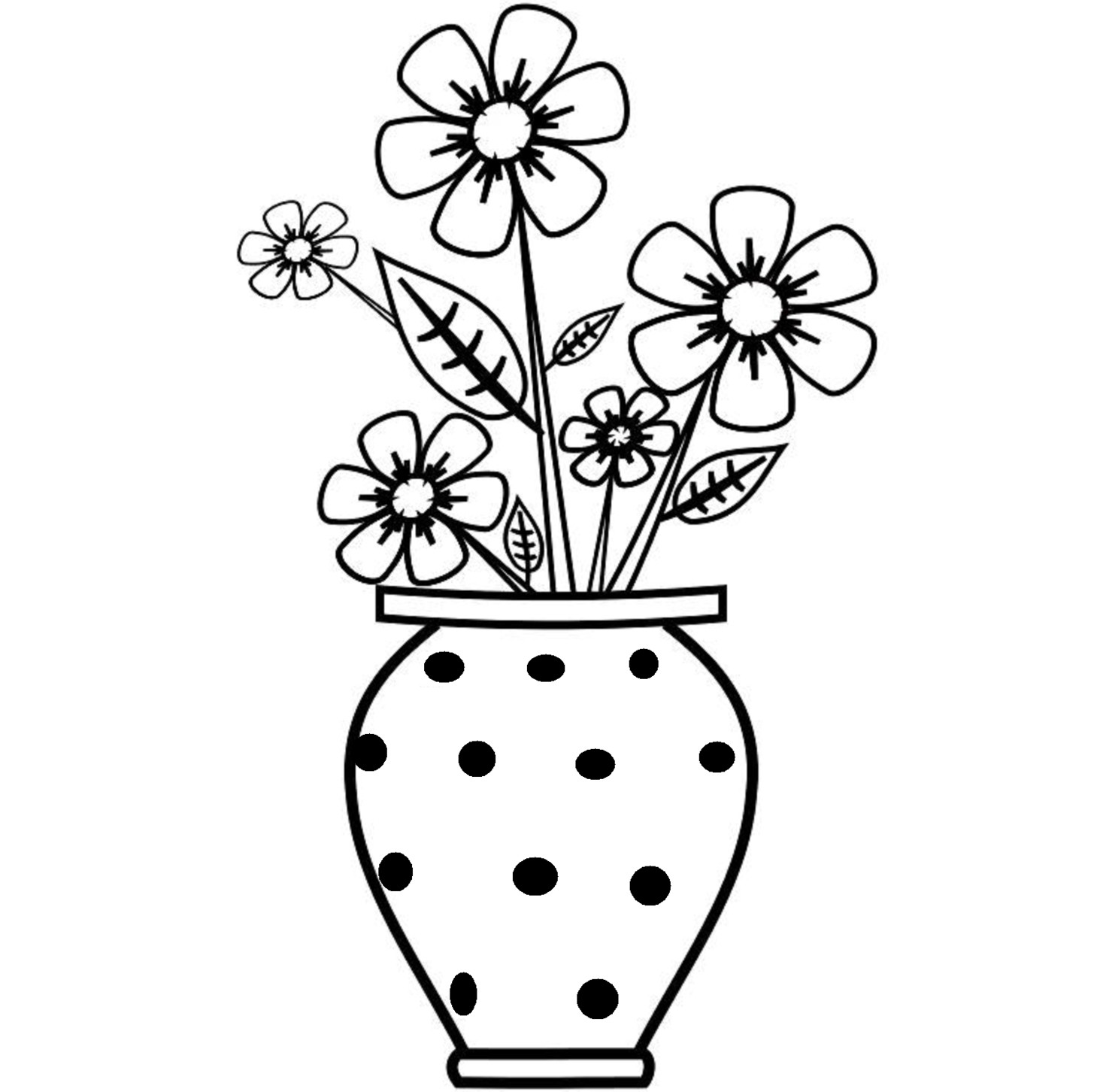 colorful flowers in a vase of 28 collection of vase drawing for kids high quality free pertaining to colorful flower in vase drawing with flowers drawings for kids