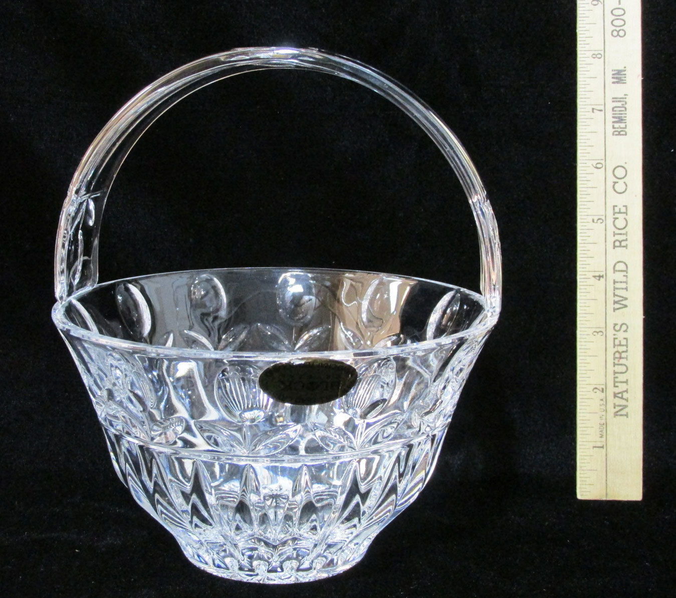 coloured glass vases ebay of block crystal tulip garden handled basket y3916 ebay for norton secured powered by verisign