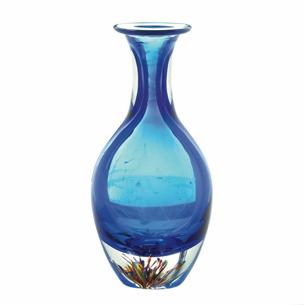 Contemporary Decorative Vases Of Art Deco Vase Table Centerpiece Contemporary Blue Art Glass Vase with Regard to Decoration Vasevase Bluetable Centerpiece Vasevase Centerpiecevintage Vase