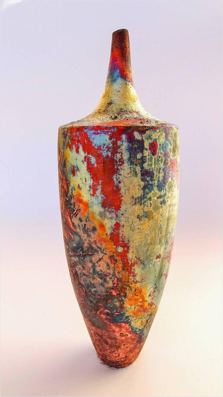copper flower vase of cool design on copper flower vase for use at home interior design or intended for handbuilt copper mat raku by tim betts