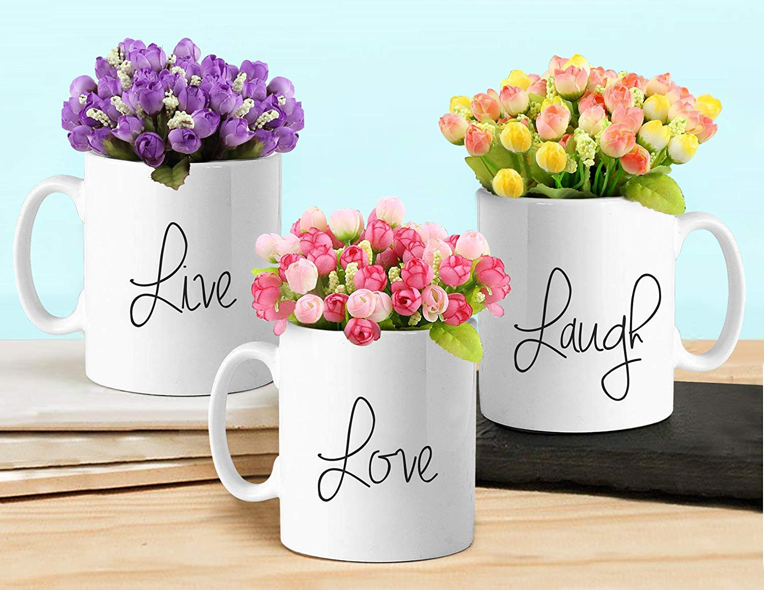 corner flower vase online of buy tied ribbons ceramic flower vases with artificial flowers white within buy tied ribbons ceramic flower vases with artificial flowers white online at low prices in india amazon in