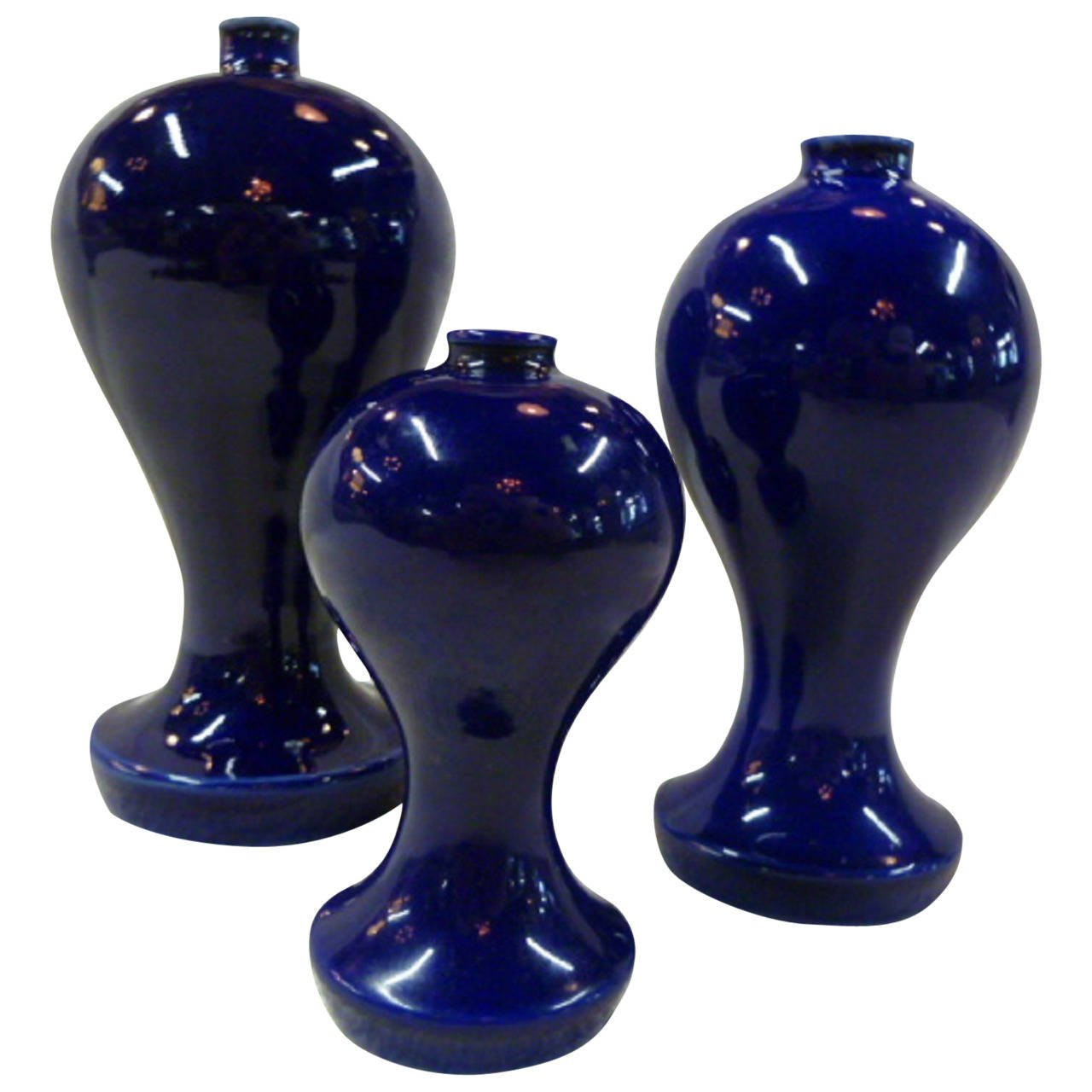 Correia Art Glass Vase Of Japanese Art Deco Lusterware Vase Floral with Gold Accent Circa with Regard to 1930s Japanese Cobalt Blue Altar Vases