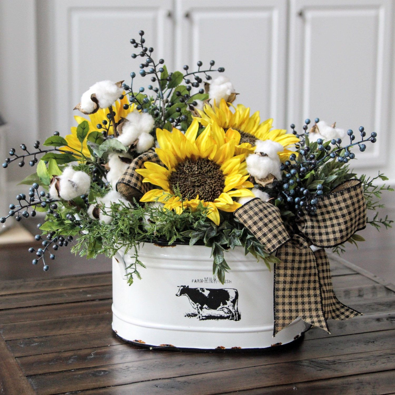 cotton in vase of attractive sunflower decor for kitchen or farmhouse decor country throughout attractive sunflower decor for kitchen or farmhouse decor country primitive floral arrangement cotton decor