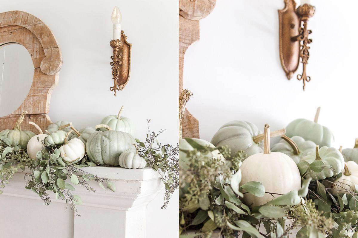 cotton stems in glass vase of 35 beautiful fall mantel decorating ideas pertaining to 1 heirloom green pumpkin fall mantel edited 1 595fb9c43df78cdc68b7b25c
