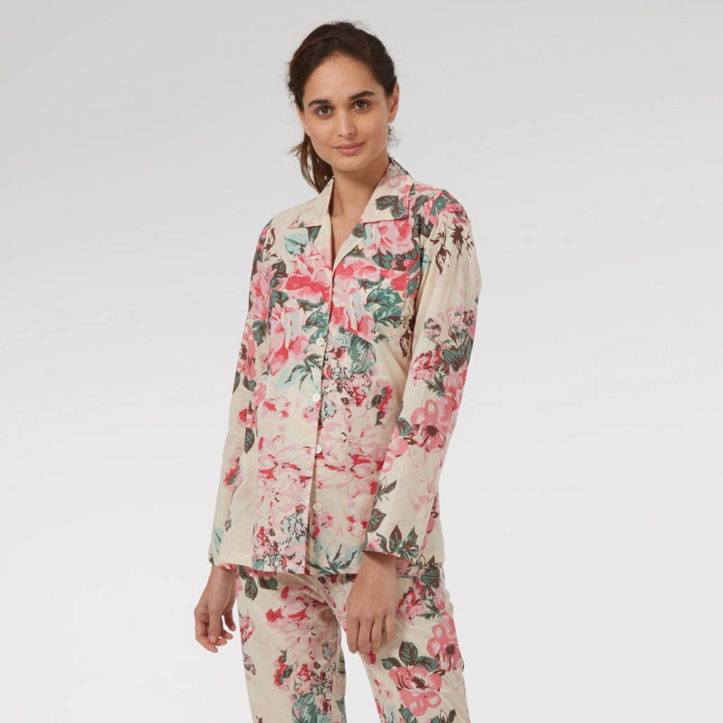 cotton vase filler of cotton pyjamas in cutting garden floral print by caro london for cotton pyjamas in cutting garden floral print