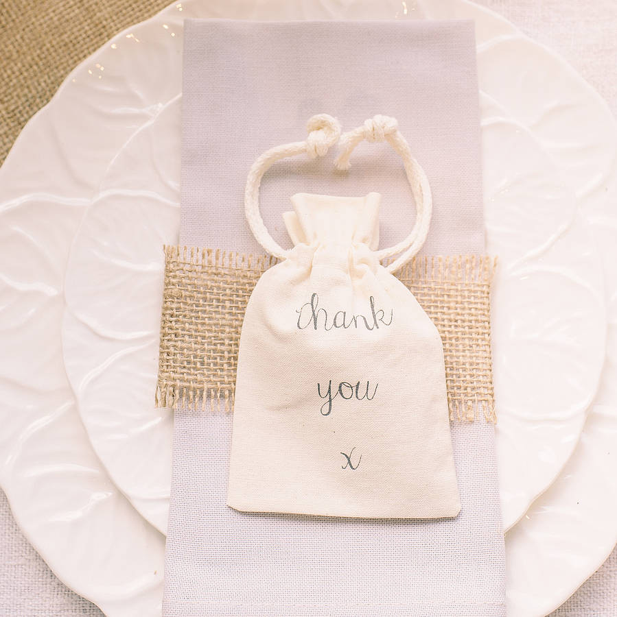 cotton vase filler of thank you cotton bag for wedding favours by the wedding of my within thank you cotton bag for wedding favours a·