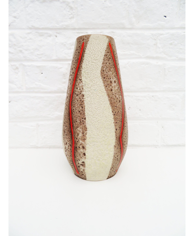 cream ceramic vase of vintage tall round ceramic german vase scheurich heinz siery pertaining to vintage tall round ceramic german vase scheurich heinz siery germany fat lava glaze red thunder