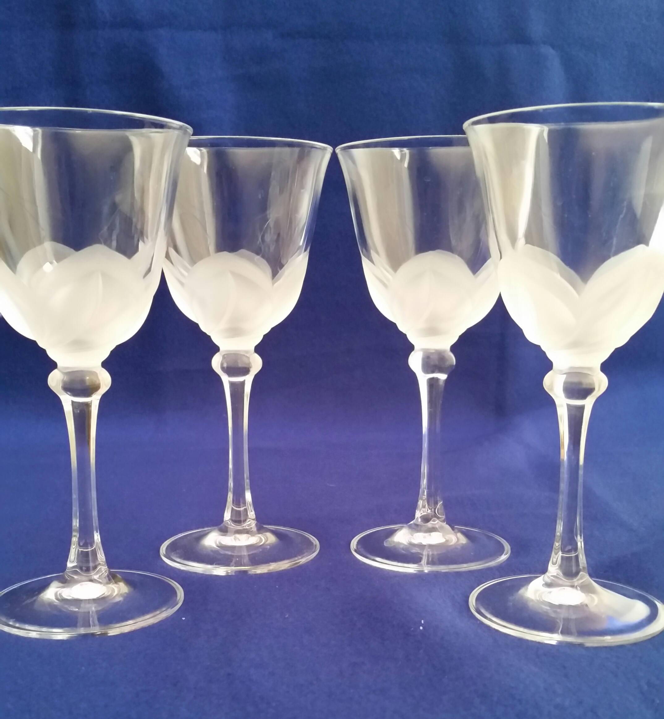 cristal d arques vase france of cristal d arques durand florence wine glasses frosted etsy regarding dc29fc294c28epowiac299ksz