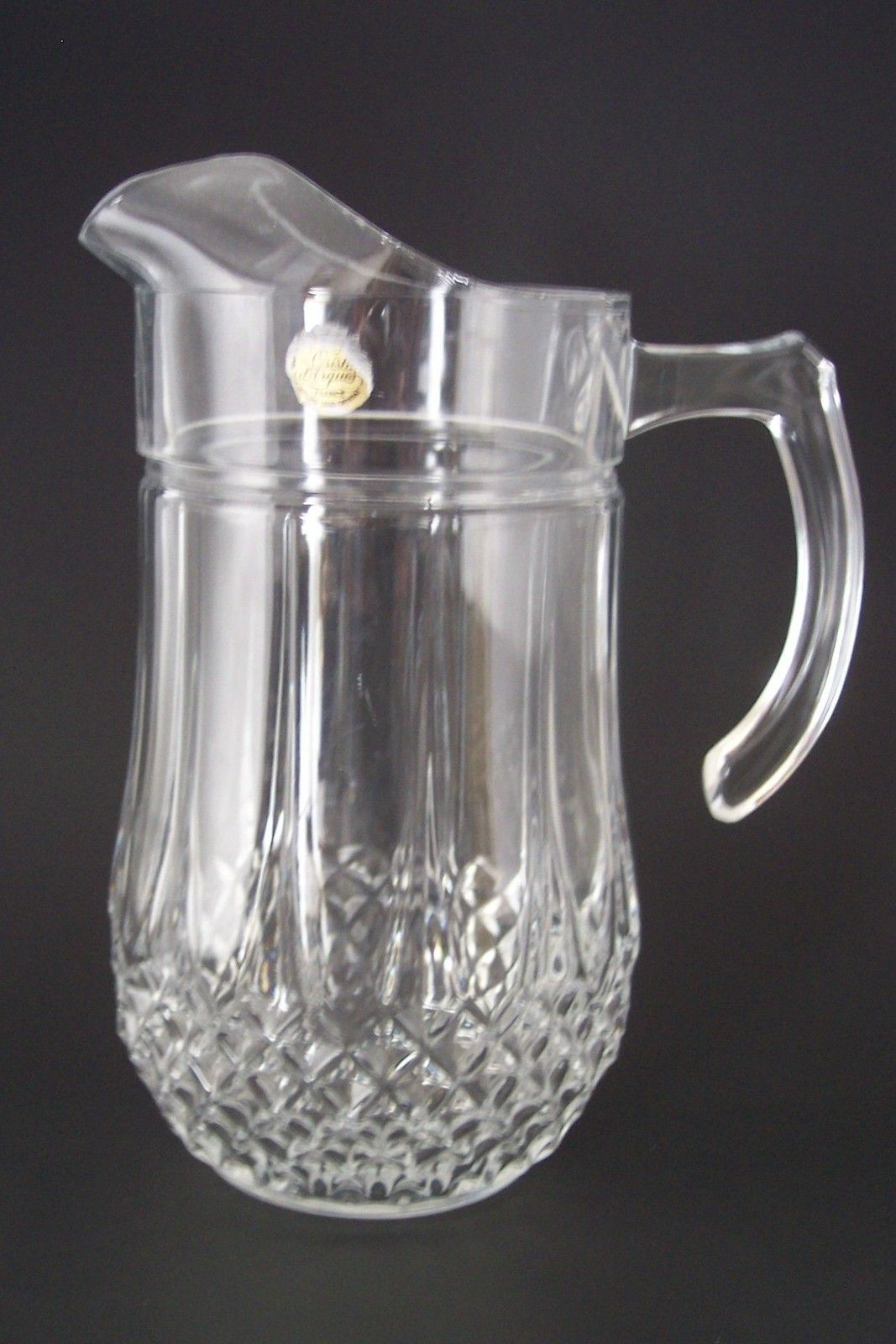 cristal d arques vase france of crystal longchamp pitcher cristal darques durand glass 24 lead regarding crystal longchamp pitcher cristal darques durand glass 24 lead crystal 50 oz 39 98 obo free shipping tracking insurance