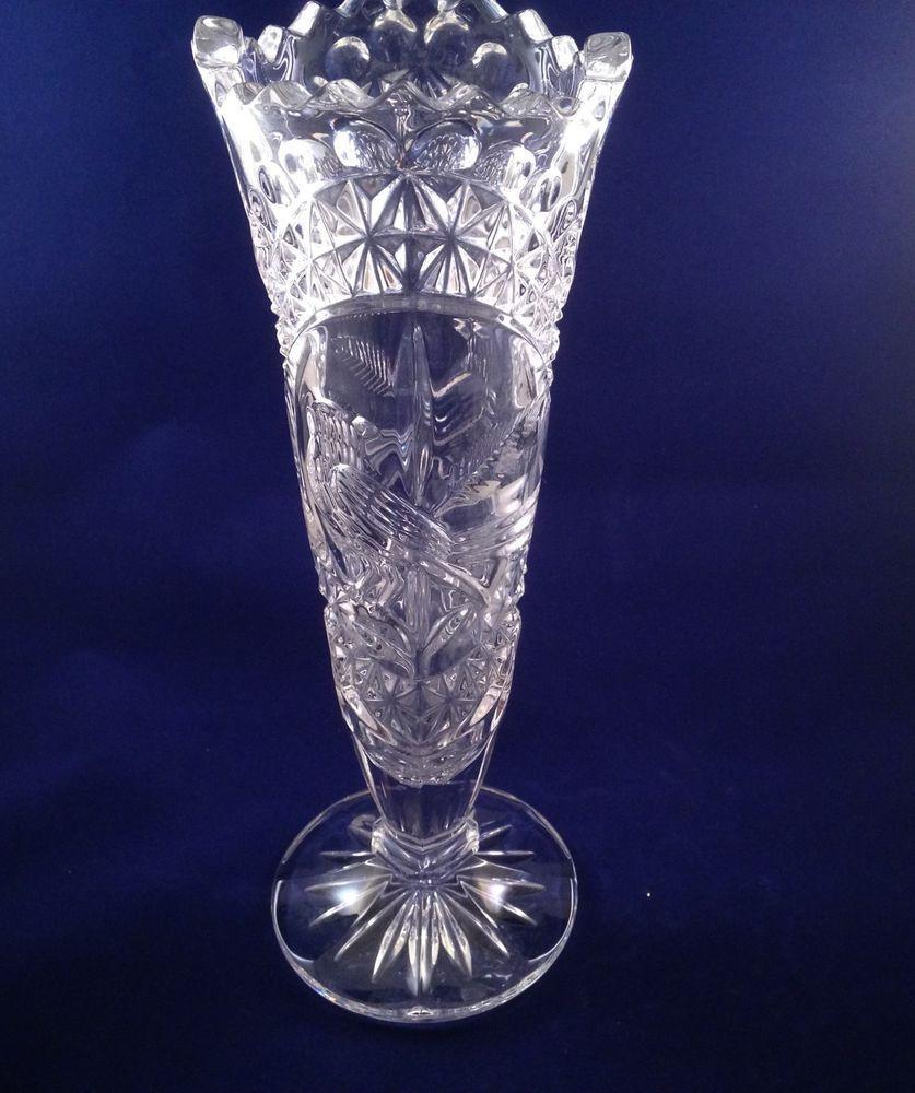 crystal single flower vase of 9 5 tall crystal vase with bird design stuff to sell pinterest intended for 9 5 tall crystal vase with bird design