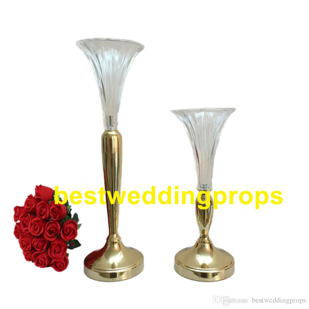crystal trumpet vase of clear trumpet glass vase vase wedding centerpiecevase wedding for to make then taller according the order you place here is picture about 37cm and 51 cm tall other size need to add the parts to make then taller