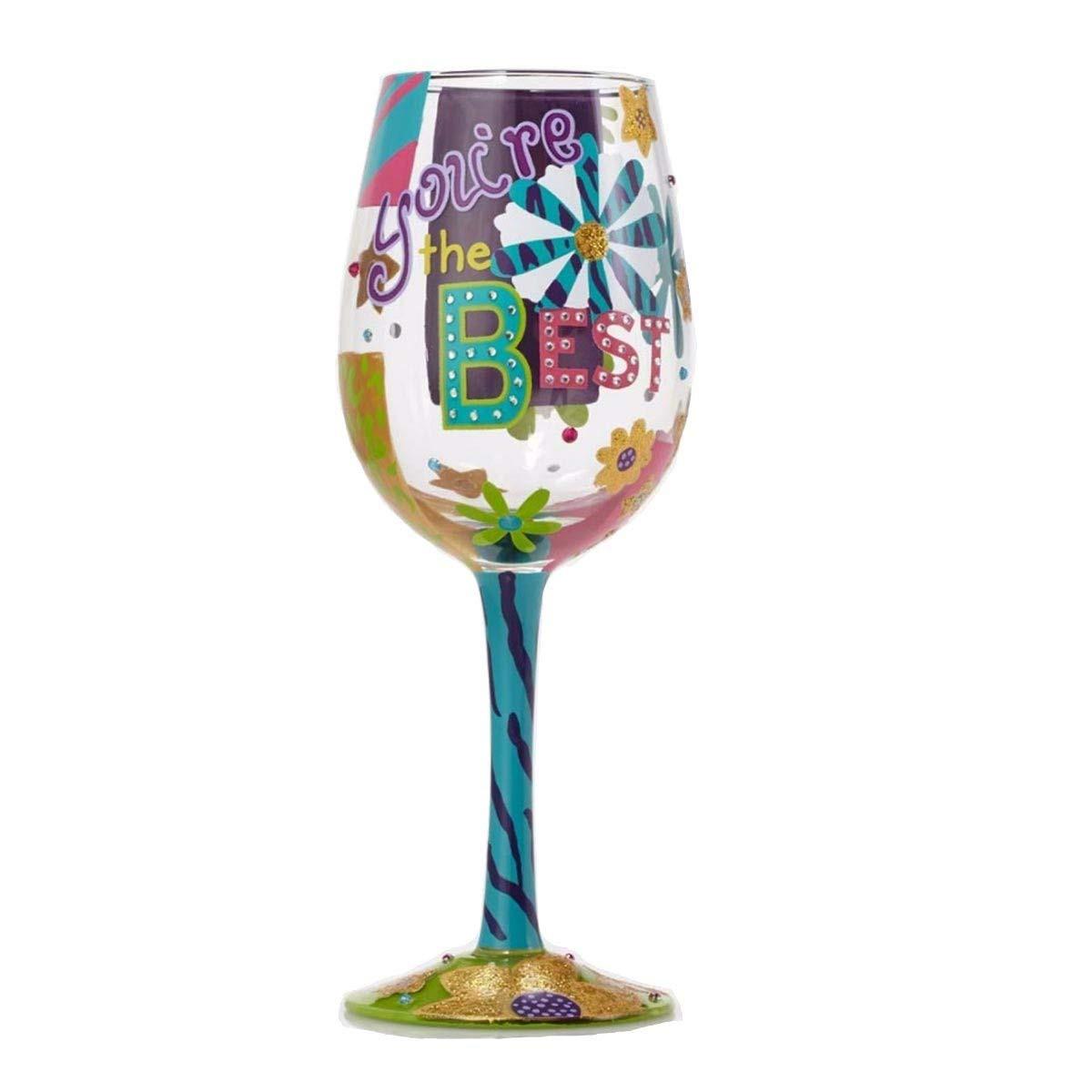 crystal vase engraved gift of amazon com lolita happy retirement artisan painted wine glass gift inside amazon com lolita happy retirement artisan painted wine glass gift wine glasses
